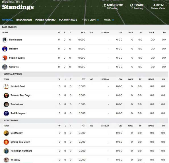 NFL Fantasy Football Keeper Leagues