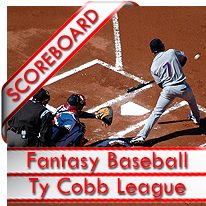 MLB Keeper League Ty Cobb Scoreboard